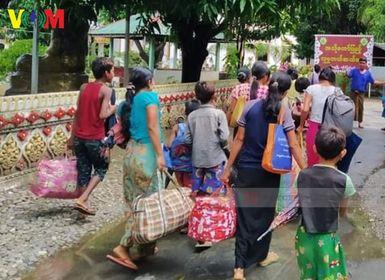 ကျောက်တော်မြို့ပေါ် မှာ စစ်ဘေးရှောင်တွေထပ်တိုးပြီး စားဝတ်နေရေး အကူအညီတွေလိုအပ်နေ