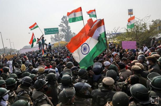 လယ်ယာကဏ္ဍဥပဒေအပေါ် အိန္ဒိယလယ်သမားတွေ အစာအငတ်ခံ ဆန္ဒပြနေကြ