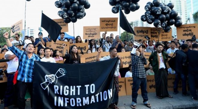ဖမ်းဆီးခံထားရတဲ့ သတင်းသမားတွေ ခြွင်းချက်မရှိလွှတ်ပေးဖို့ နိုင်ငံတကာသတင်းအဖွဲ့အစည်းတွေ တောင်းဆို