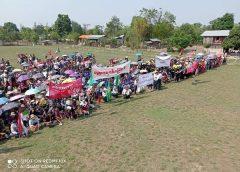 လွိုင်ကော်မြို့က ကျေးရွာ ၂ရွာပေါင်းပြီး အာဏာရှင်ဆန့်ကျင်ရေး ဆန္ဒပြ
