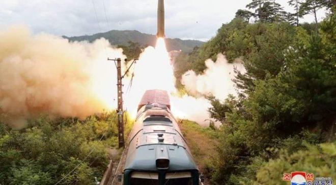 ရထားပေါ်က ပစ်ခတ်နိုင်တဲ့ ဒုံးပျံစနစ် မြောက်ကိုရီးယား စမ်းသပ်အောင်မြင်