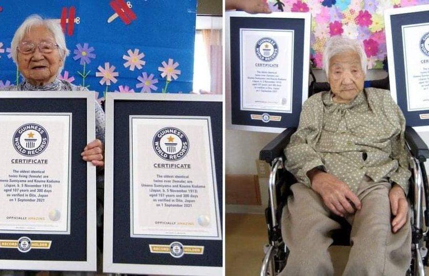 အသက် ၁၀၇ နှစ်ကျော် ဂျပန်ညီအမနှစ်ဦး ကမ္ဘာ့အသက်အကြီးဆုံးအမွှာအဖြစ် ဂင်းနစ်စံချိန်၀င်