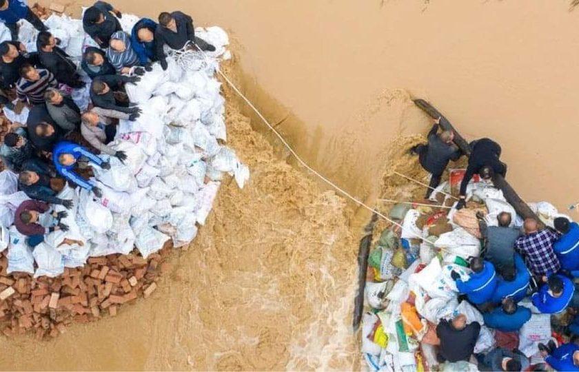 တရုတ်နိုင်ငံ ရှန်ဇီပြည်နယ်မှာ မိုးသည်းထန်စွာရွာသွန်းမှုကြောင့် လူနှစ်သန်းနီးပါး ရေဘေးသင့်နေ